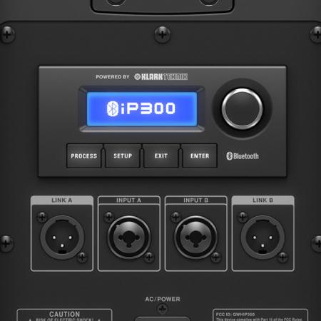 TURBOSOUND iP300 ตู้ลำโพงคอลัมน์ 2×6.5 นิ้ว 2 ทาง 600 วัตต์ มีแอมป์ในตัว มีบลูทูธในตัว สามารถควบคุมการทำงานโดย iPhone/iPad ได้