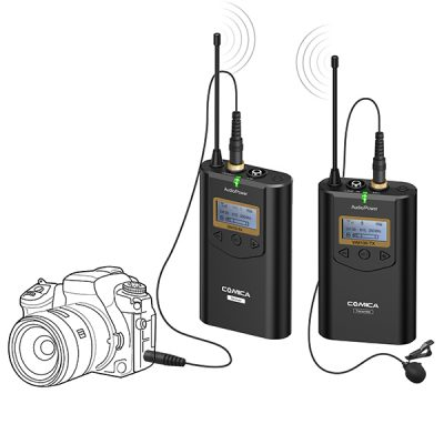 COMICA CVM-WM100 UHF(794MHz~806MHz) 39-Channels Wireless Microphone ชุดไมค์ไร้สายสำหรับกล้องวีดีโอ 39 ชาแนล ย่าน UHF ซาวด์ดีดี ช็อป