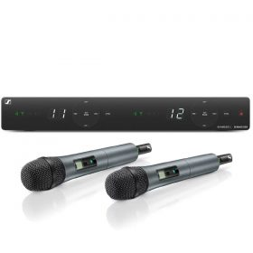 SENNHEISERXSW 1-825 DUAL ชุดไมค์ลอยมือถือคู่ ย่าน UHF 2-channel wireless system สำหรับร้องเพลง และงานพูด รับประกันของแท้! ส่งฟรี!