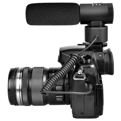 ไมโครโฟนติดกล้อง ใช้สาย
